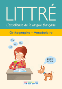 Littré : Orthographe - Vocabulaire