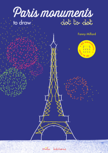 The Paris monuments to draw dot to dot