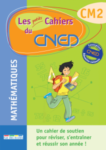 Les petits Cahiers du CNED CM2 Maths
