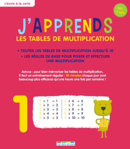 J'apprends les tables de multiplication, dès 7 ans