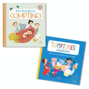 Lot Livres-CD: Comptines, à partir de 2 ans (2titres)