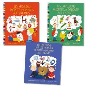 Lot Proverbes et expressions, version couverture souple (3titres)