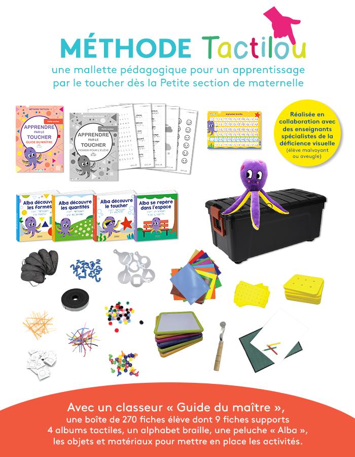 Méthode Tactilou : Apprendre par le toucher, une méthode pour tous les enfants, dès 3 ans (mallette pédagogique)