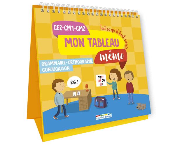 Mon tableau mémo - Grammaire, Orthographe, Conjugaison, CE2-CM1-CM2