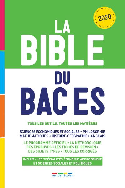 La Bible du Bac ES, Édition2020