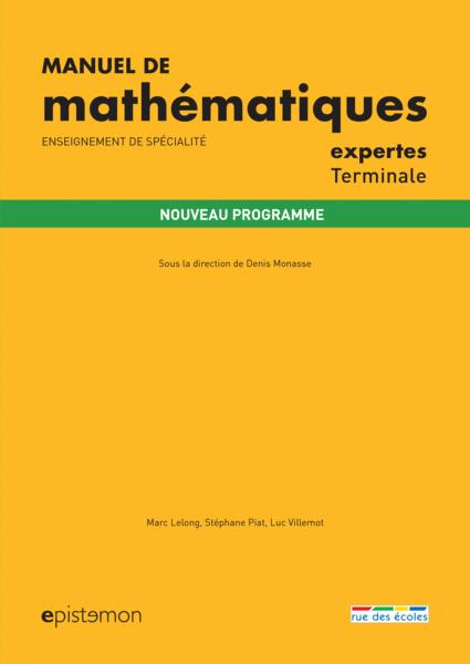 Manuel de mathématiques expertes Terminale -  Enseignement de spécialité