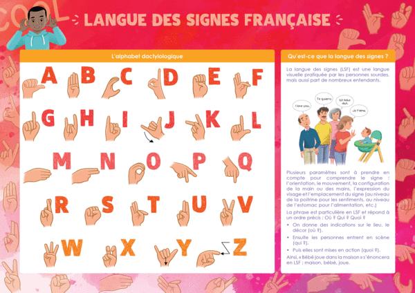 Les Posters de l'école - Langue des signes française